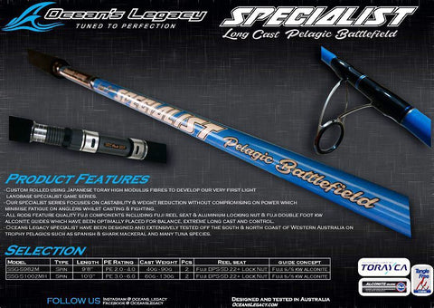 Oceans Legacy Long Cast Specialist