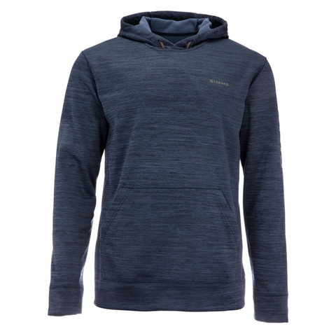 Simms Challenger Hoody Admiral Blue Heather - Front View
