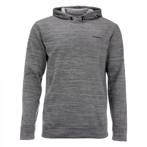 Simms Challenger Hoody Steel Heather - Front View