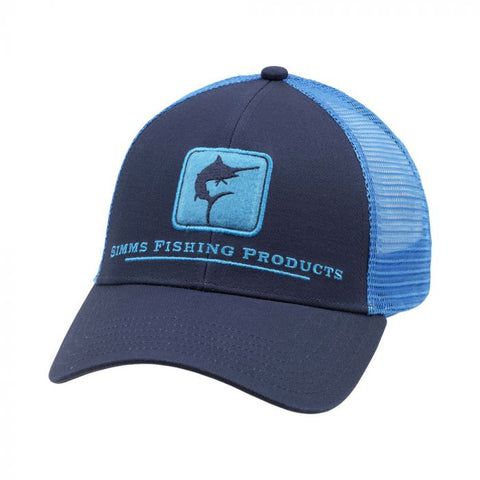 Simms Marlin Icon Trucker Admiral Blue Cap