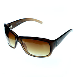 Brown Acrylic Goggle-Sunglasses #3920