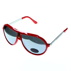 UV protection Aviator-Sunglasses Red & Gold-Tone Colored #3891