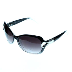 UV protection Oversize-Sunglasses Black & Purple Colored #3870