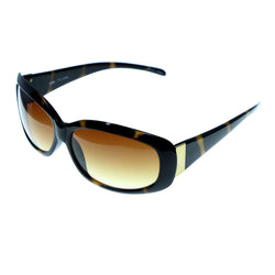 Tortoise-Shell & Brown Colored Acrylic Goggle-Sunglasses #3941