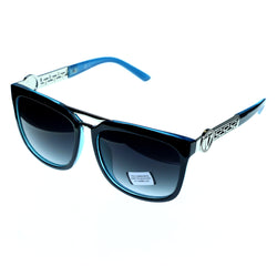 UV protection Shatter resistant Poly carbonated Oversize-Sunglasses With Logo Accents Black Color #3867