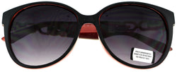 Black framed sunglasses with red color accents for women 26SG555-RED - Mi Amore