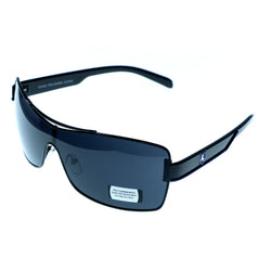 UV protection Goggle-Sunglasses With Logo Accents Black & Blue Colored #3942