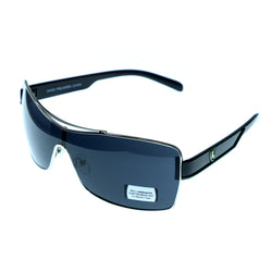 UV protection Shatter resistant Poly carbonated Goggle-Sunglasses With Logo Accents Silver-Tone & Black Colored #3942