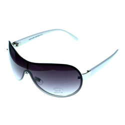UV protection Goggle-Sunglasses White & Purple Colored #3931