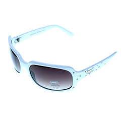 UV protection Goggle-Sunglasses With Crystal Accents White & Purple Colored #3945