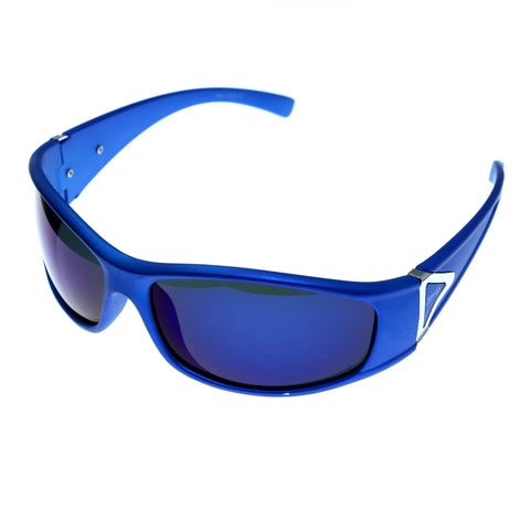 Blue & Purple Colored Acrylic Sport-Sunglasses With Logo Accents #3930