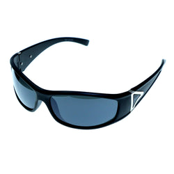 Black & Gray Colored Acrylic Sport-Sunglasses With Logo Accents #3930