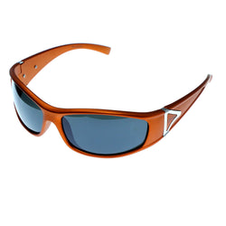 Orange & Green Colored Acrylic Sport-Sunglasses With Logo Accents #3930