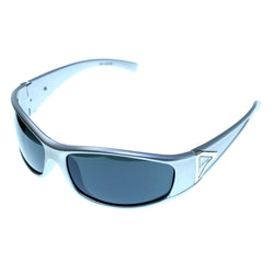 Silver-Tone & Green Colored Acrylic Sport-Sunglasses With Logo Accents #3930
