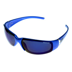 Blue & Green Colored Acrylic Sport-Sunglasses With Logo Accents #3922
