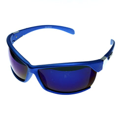 Blue & Purple Colored Acrylic Sport-Sunglasses With Logo Accents #3928