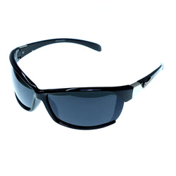 Black & Gray Colored Acrylic Sport-Sunglasses With Logo Accents #3928