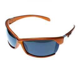 Orange & Gray Colored Acrylic Sport-Sunglasses With Logo Accents #3928