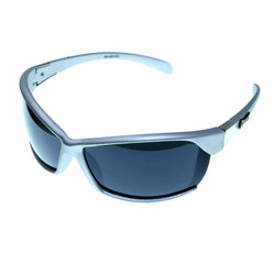 Silver-Tone & Green Colored Acrylic Sport-Sunglasses With Logo Accents #3928