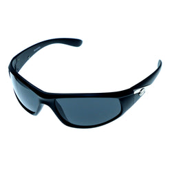 Black & Gray Colored Acrylic Sport-Sunglasses With Logo Accents #3924