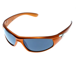 Orange & Gray Colored Acrylic Sport-Sunglasses With Logo Accents #3924