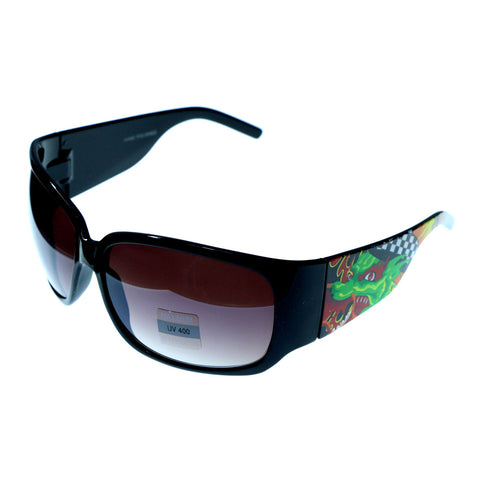 Mi Amore UV protection Dragon print Goggle-Sunglasses Black & Gray