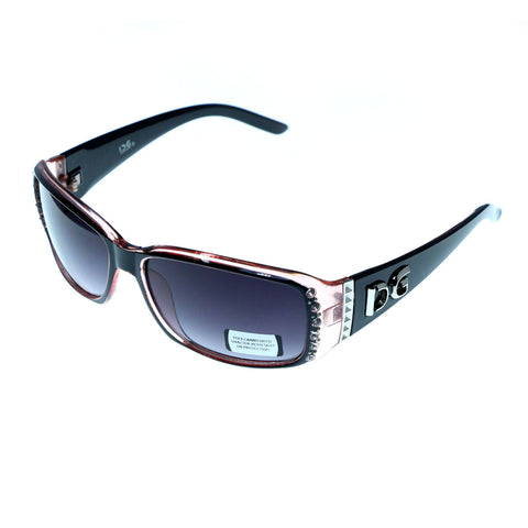 Mi Amore UV protection Shatter Resistant Poly carbonate Goggle-Sunglasses Pink Frame & Black Lens