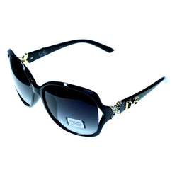 Mi Amore UV protection Shatter resistant Poly Carbonate Goggle-Sunglasses Black Frame & Black Lens