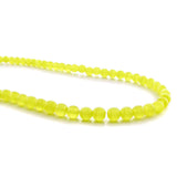 4mm Fiberoptic Cats Eye Round Yellow 4CE13