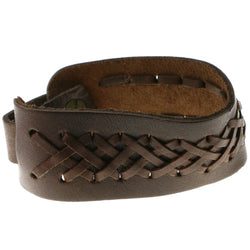 Brown Synthetic-Fiber Mens-Bracelet #3232
