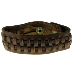 Brown Synthetic-Fiber Mens-Bracelet #3225