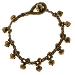 Acorn Cord-Bracelet Gray & Gold-Tone Colored #4177