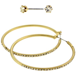 Gold-Tone Hoop And Stud Earrings Set AEME1