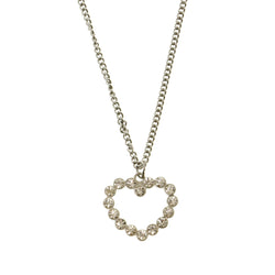 Heart Star Adjustable Length Pendant-Necklace With Crystal Accents Silver-Tone Color #3301