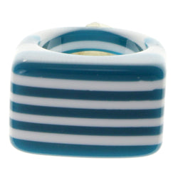 Blue And White Color Ring With Stripe Designs AEROR1