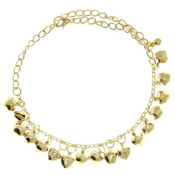 Bell Charm-Anklet Gold-Tone Color  #4057