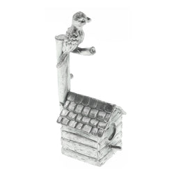 Bird with Birdhouse Candle-Snuffer Pewter Color  #CS4