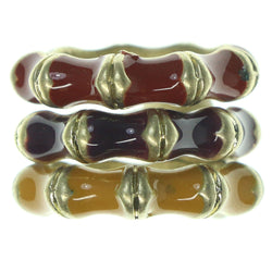 Gold-Tone & Multi Colored Metal Multiple-Rings #3574