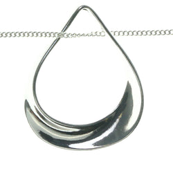 Adjustable Length Pendant-Necklace Silver-Tone Color  #3606