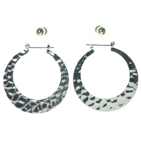 Silver-Tone Metal Multiple-Earrings #3619