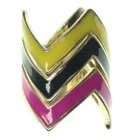 Gold-Tone & Multi Colored Metal Multiple-Rings #3597