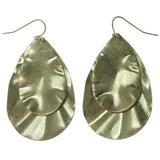 Gold-Tone Metal Earrings #3639