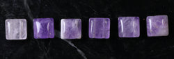 10X10mm Gemstone Spacer Amethyst GRS11