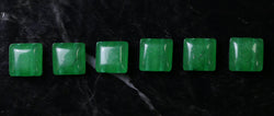 10x10mm Gemstone Spacer Emerald 25pc GRS17