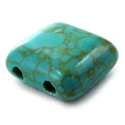 10X10mm Gemstone Spacer Afric Turquoise GRS03