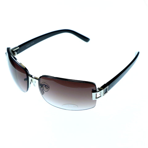 Two-Tone & Brown Colored Acrylic Sport-Sunglasses #3893