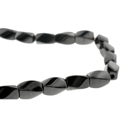 4X7mm Hp Magnetic Hematite Twist HPM18