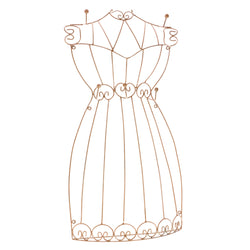 Brown Metal Wire-Frame-Dress-Jewelry-Display #JH23