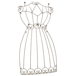 Black Metal Wire-Frame-Dress-Jewelry-Display #JH24