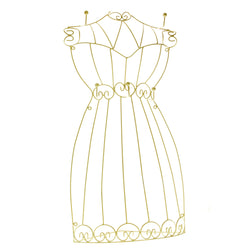 White Metal Wire-Frame-Dress-Jewelry-Display #JH25